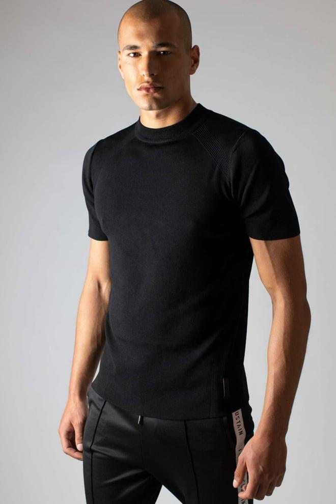 Sustain reverse knit t-shirt zwart - Sustain