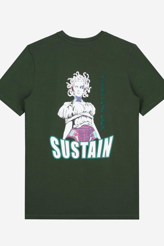 Sustain snakes t-shirt groen - Sustain