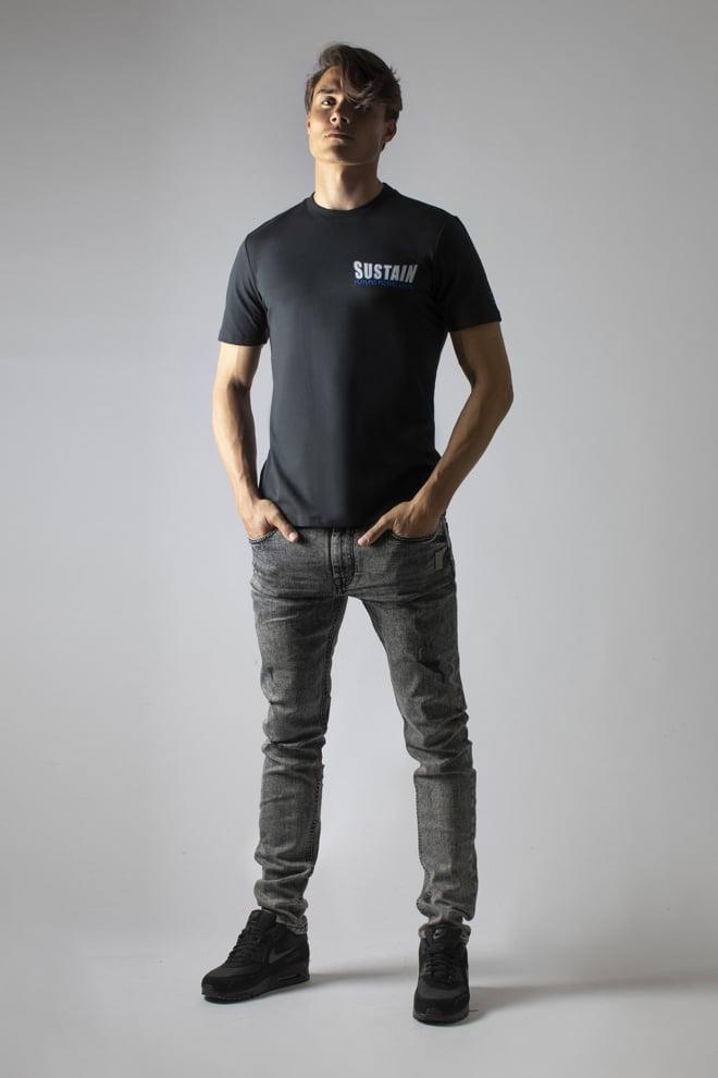 Sustain snakes t-shirt zwart - Sustain