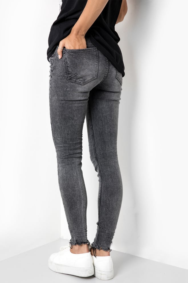 Tigha ania ripped hem jeans mid grey - Tigha