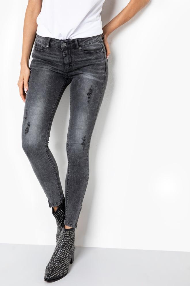 Tigha ania 5125 zip jeans donkergrijs - Tigha