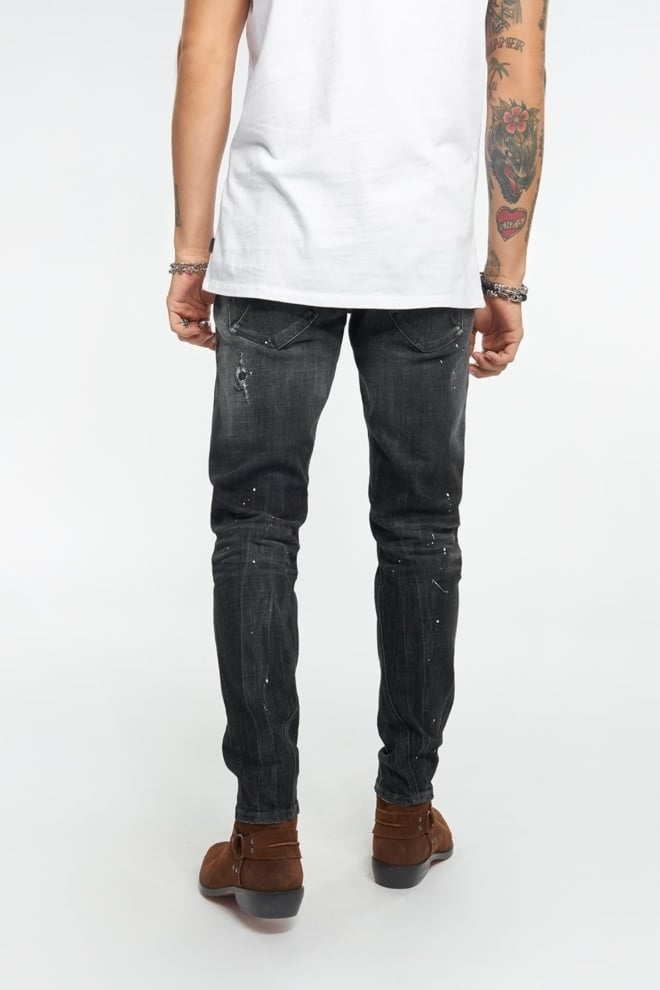 Tigha billy the kid jeans vintage zwart - Tigha