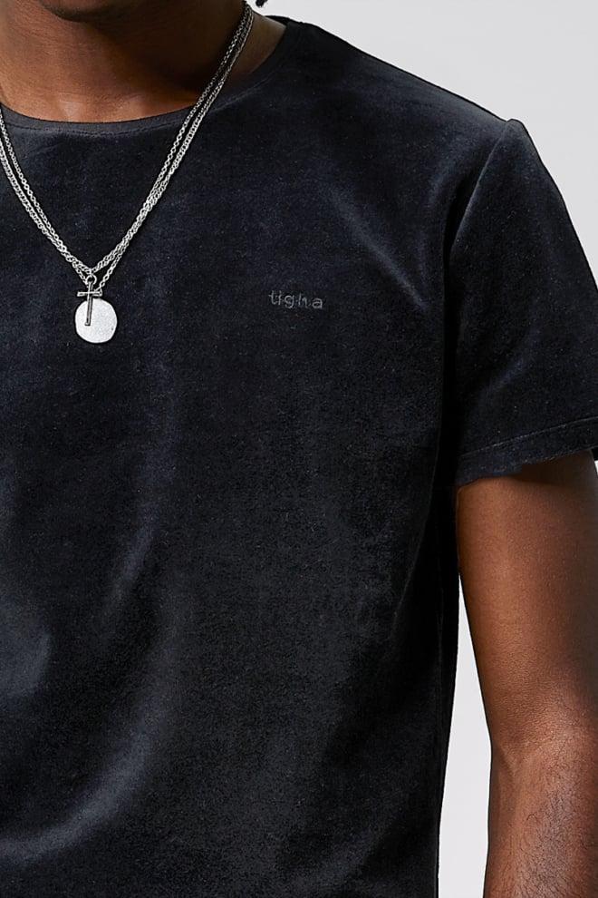 Tigha hein velvet t-shirt zwart - Tigha