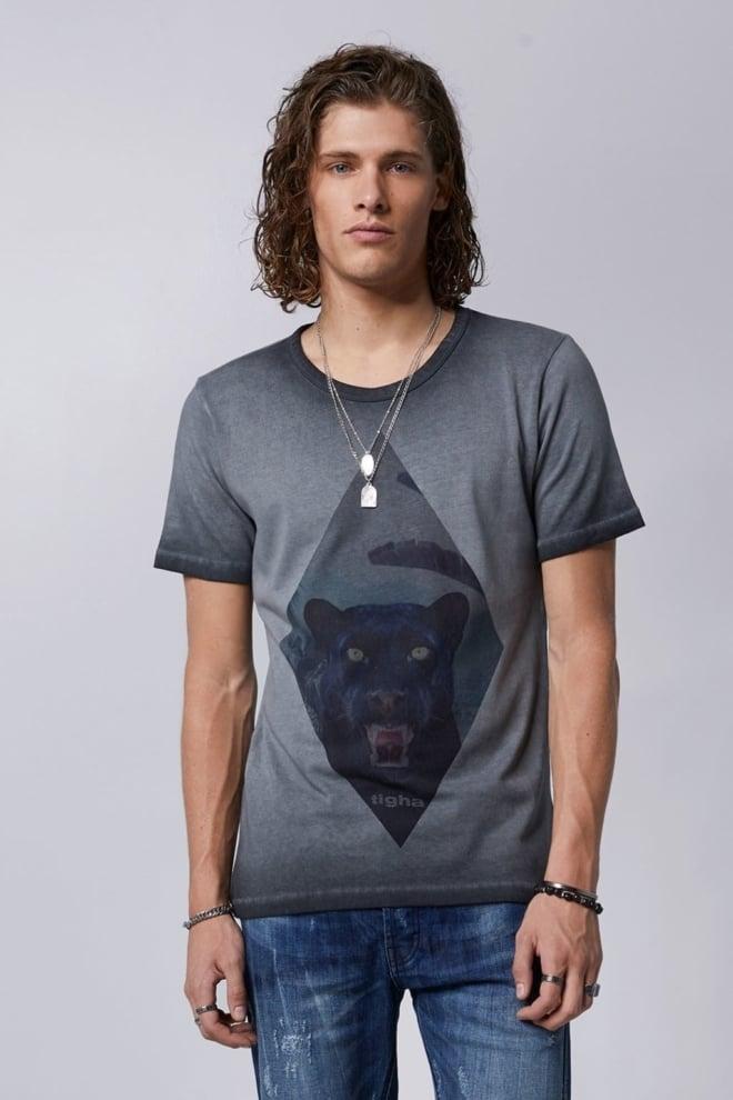 Tigha hissing panther t-shirt grijs - Tigha