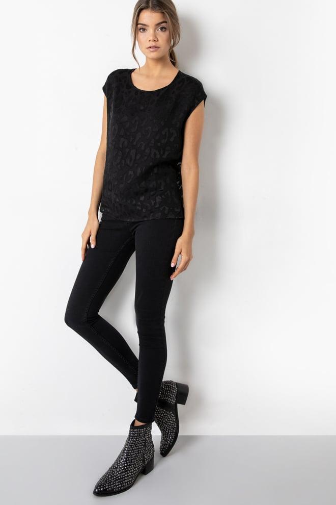 Tigha linja leo shirt black - Tigha