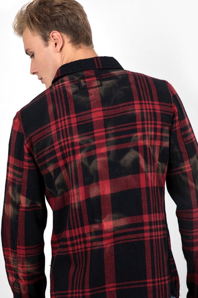 Tigha ludo hemd red/black - Tigha