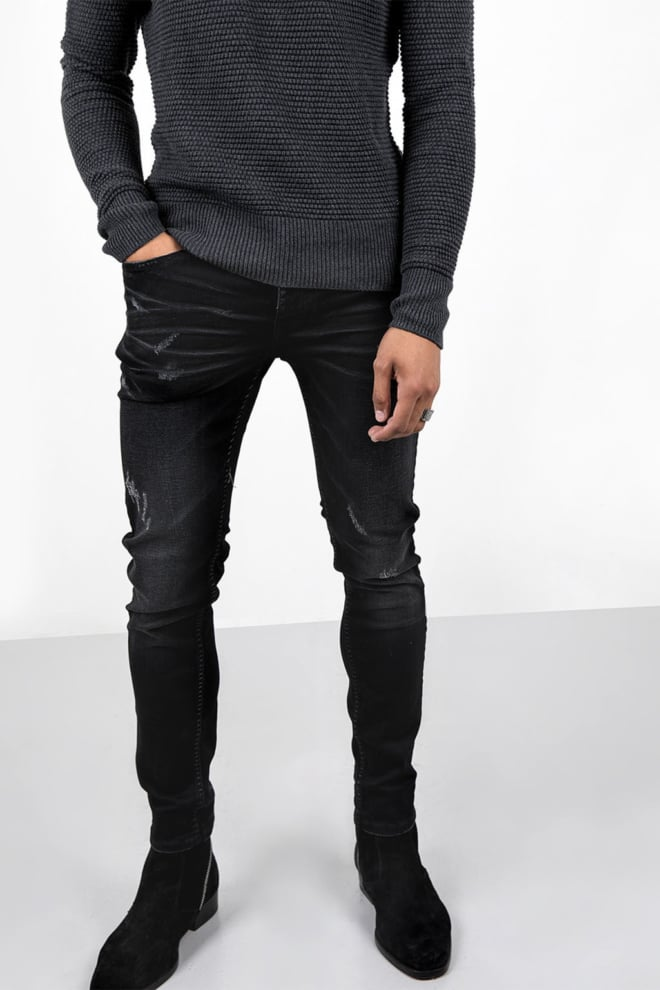 Tigha morty 7108 stone wash slim fit jeans - Tigha