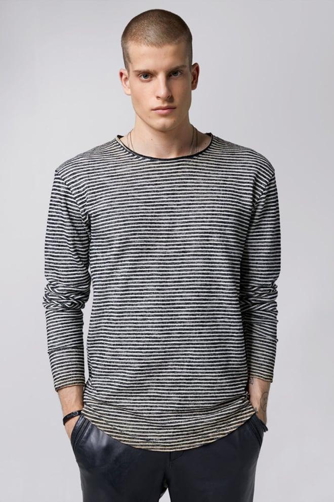 Tigha geert pullover black white sand - Tigha