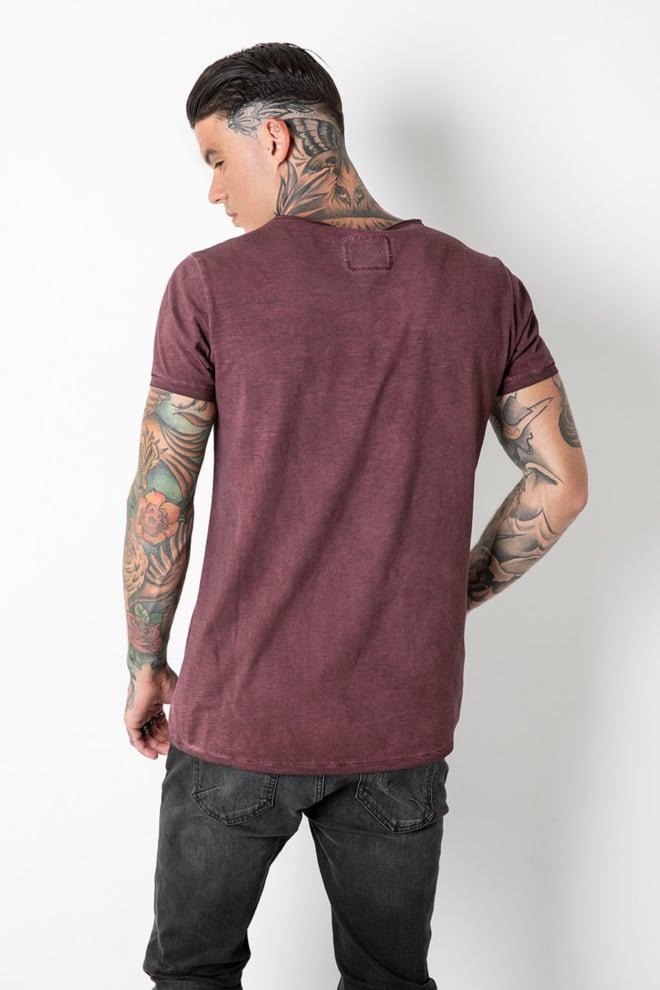 Tigha vito slub vintage plum t-shirt - Tigha