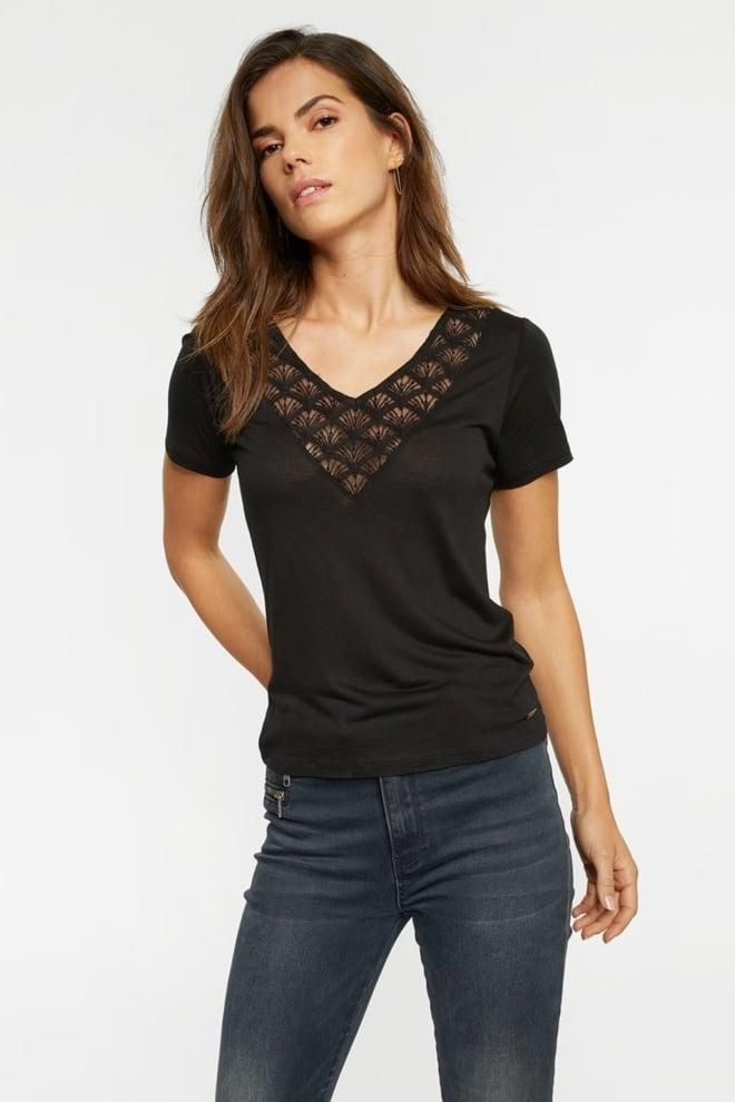 Tigha adda dames t-shirt zwart - Tigha