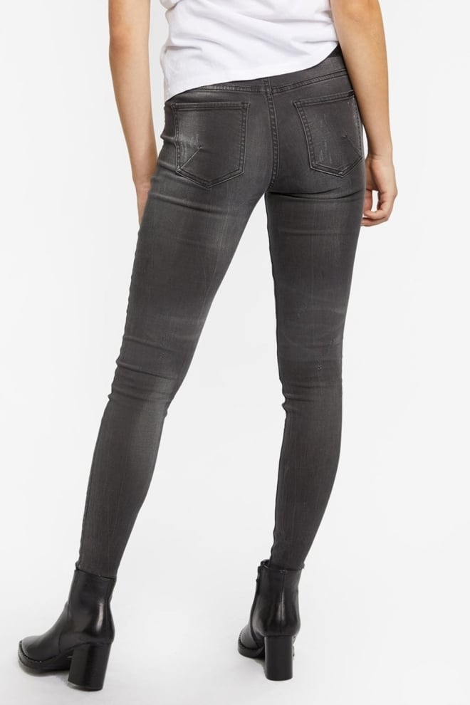 Tigha ania 5113 ripped jeans donkergrijs - Tigha