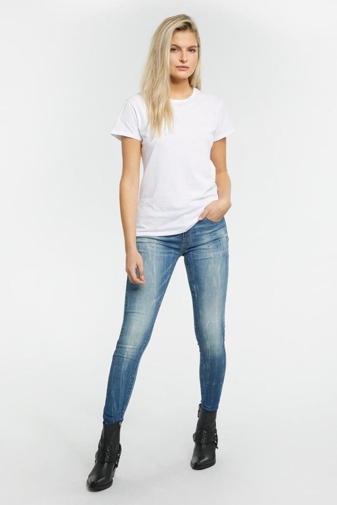 Tigha ania 9012 ripped jeans mid blue - Tigha