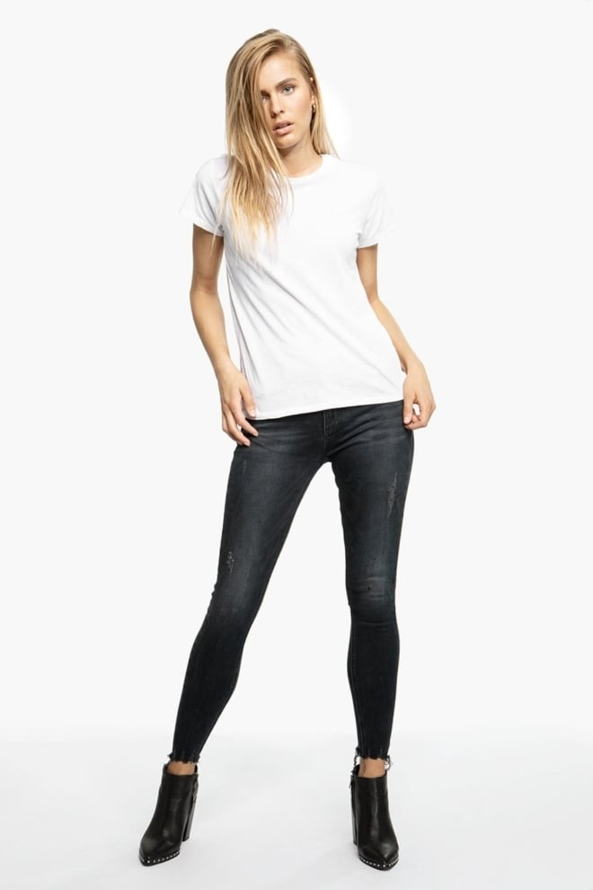 Tigha ania 9545 ripped jeans donkerblauw - Tigha