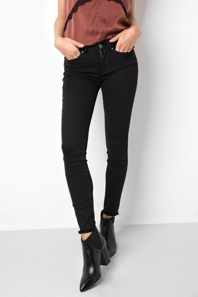 Tigha ania ripped hem jeans zwart - Tigha