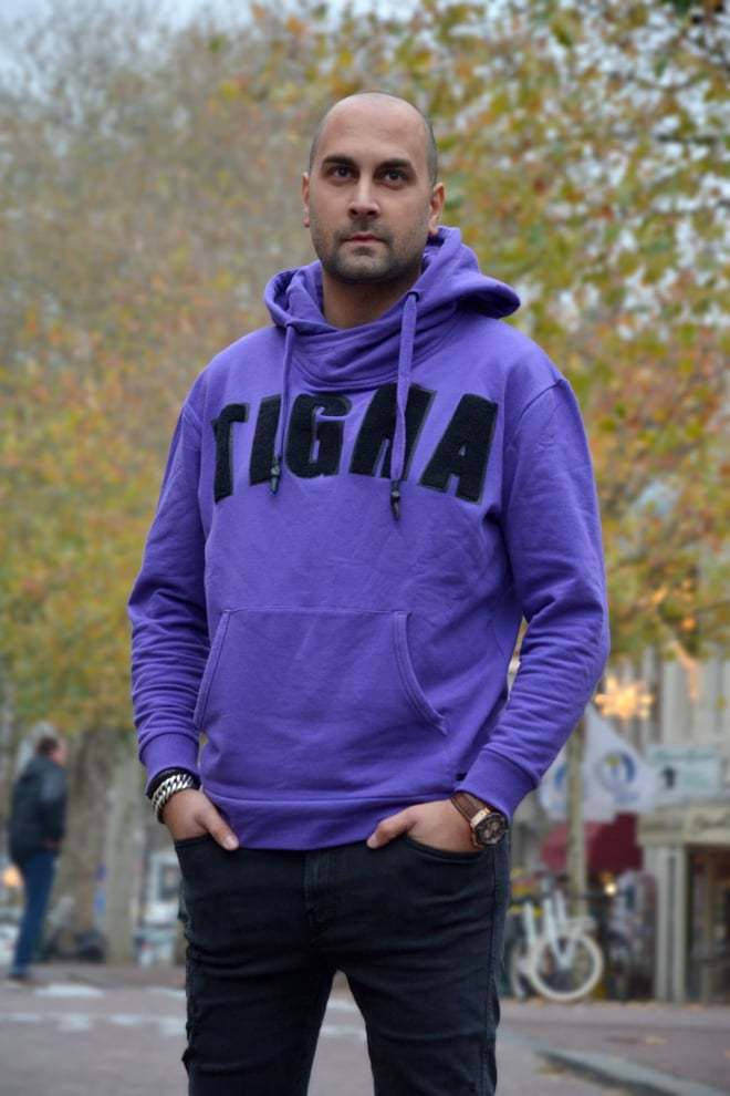 Tigha asa electric purple hoodie - Tigha