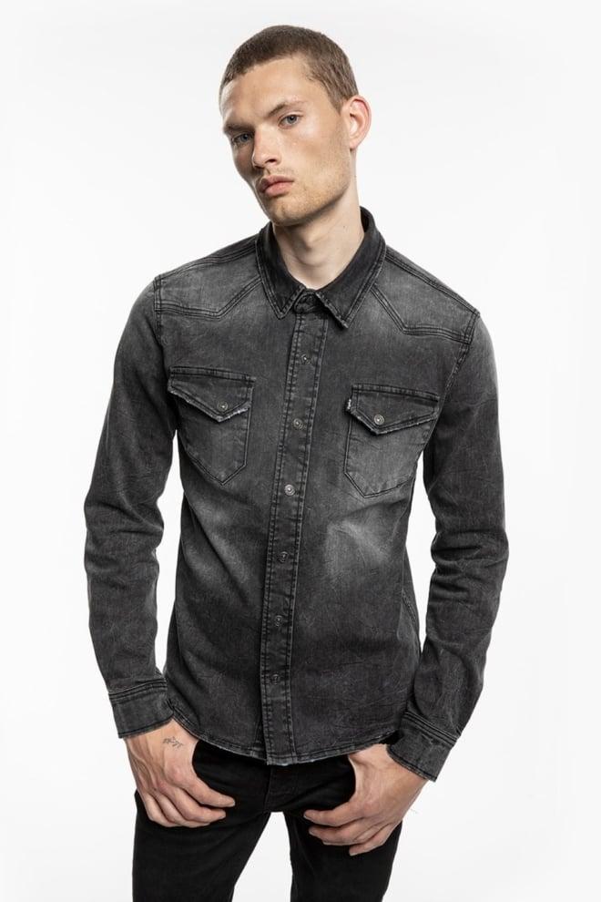 Tigha fred 6965 used overhemd zwart - Tigha