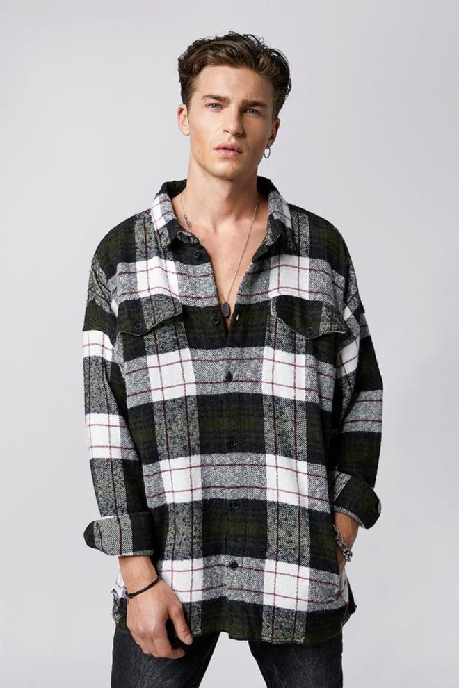 Tigha jin overhemd meerkleurig geruit - Tigha