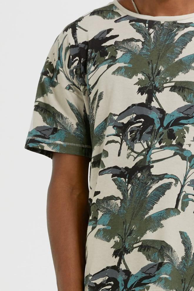 Tigha leaves and birds arne t-shirt - Tigha