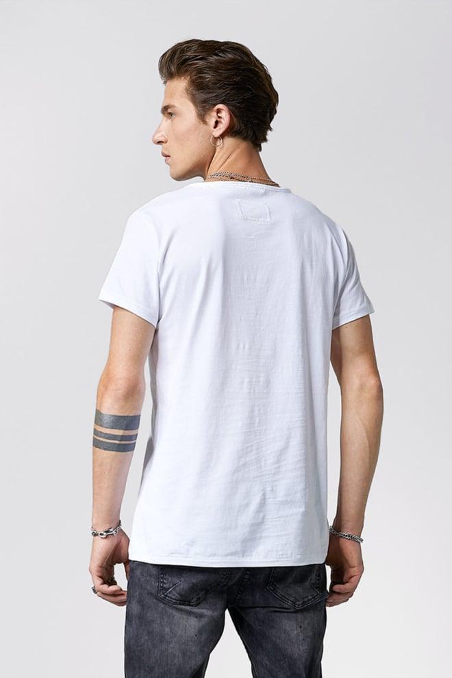 Tigha logo splashes t-shirt wit - Tigha