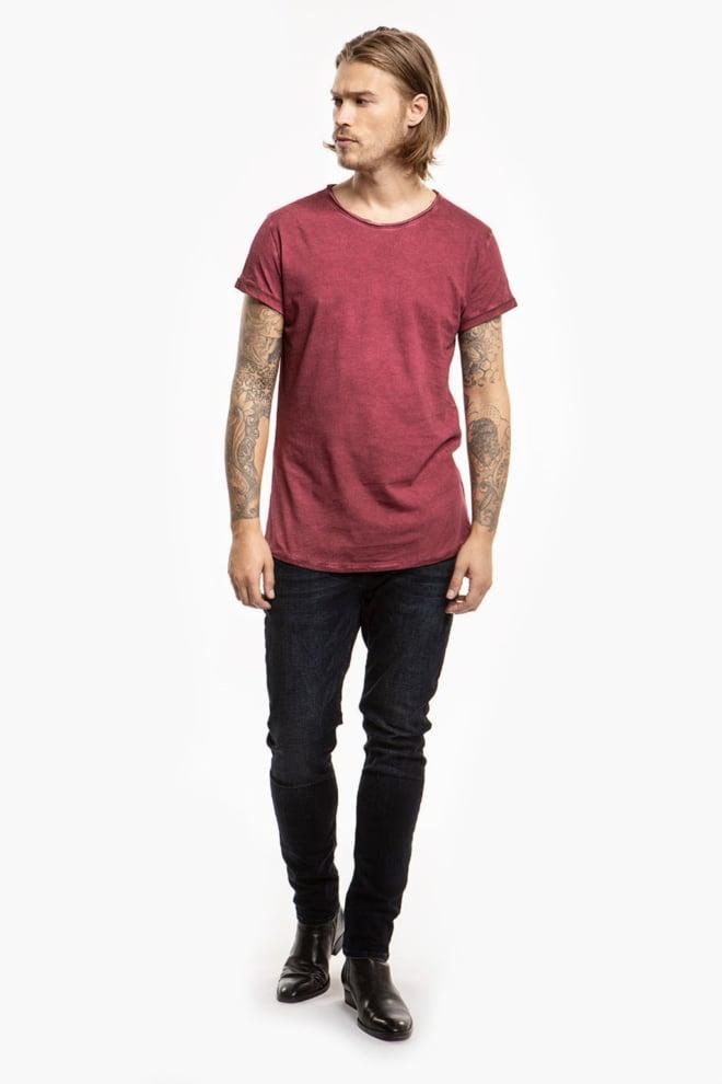 Tigha milo shirt vintage rood - Tigha