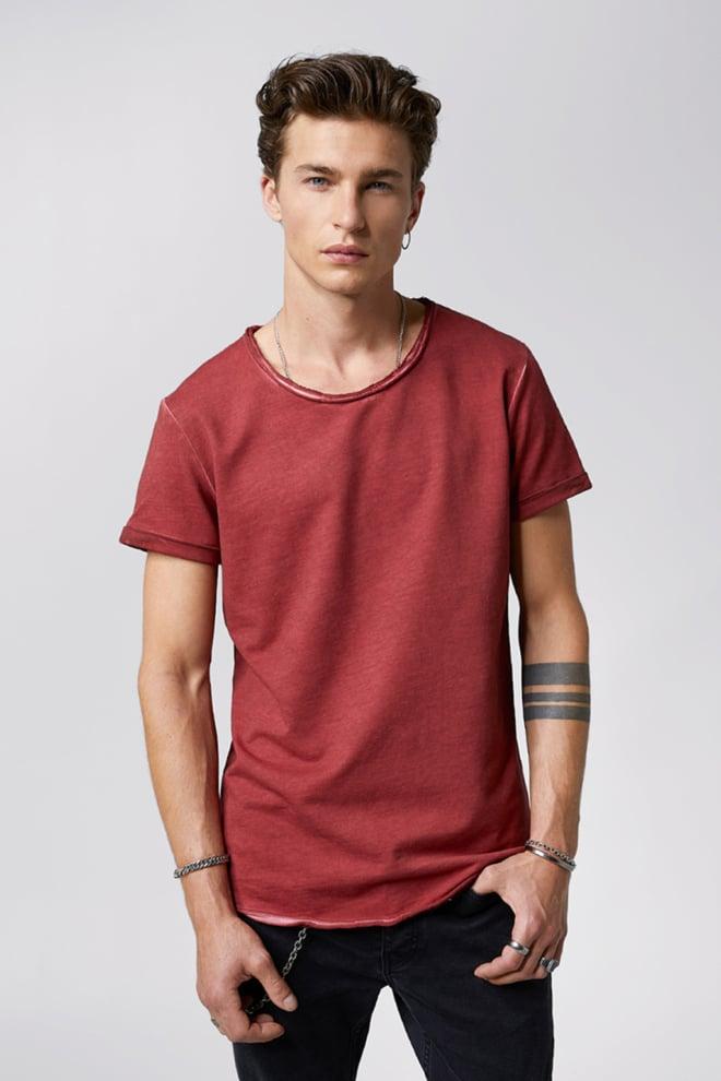 Tigha milo sweat t-shirt vintage bordeaux - Tigha