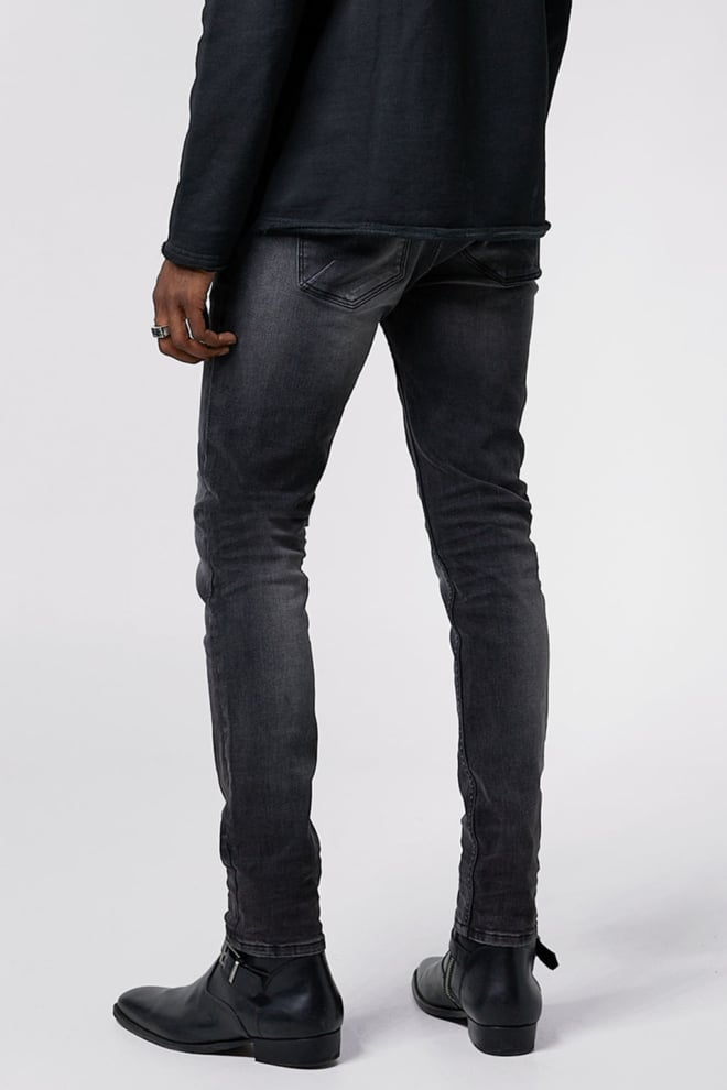 Tigha morty 6990 stone wash jeans zwart - Tigha