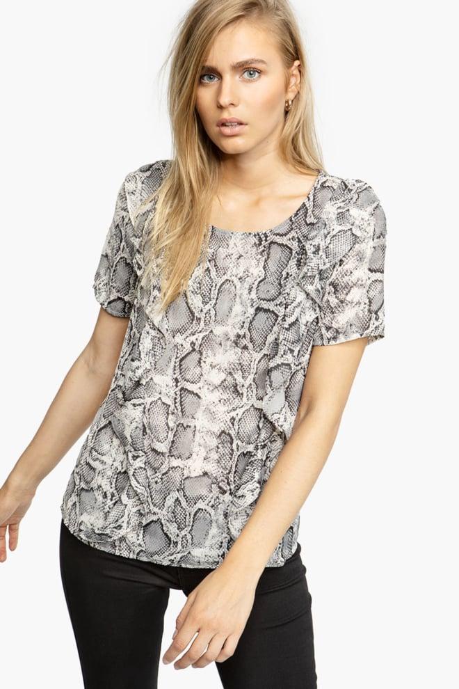 Tigha radya t-shirt slangenprint grijs - Tigha