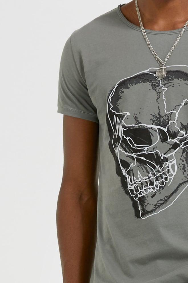 Tigha sketched skull wren t-shirt grijs - Tigha