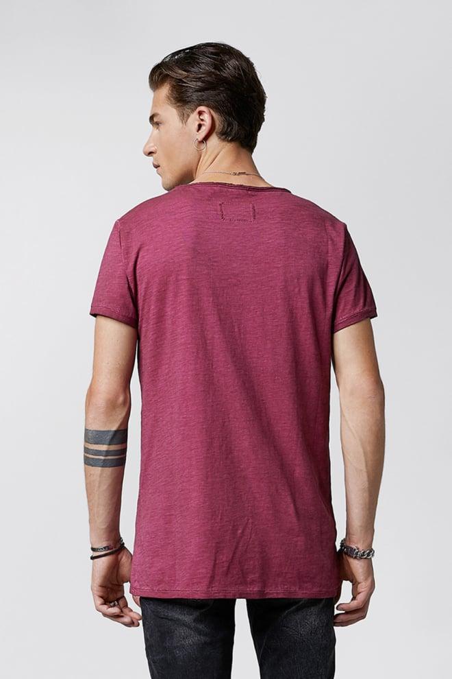 Tigha vito slub t-shirt vintage bordeaux - Tigha