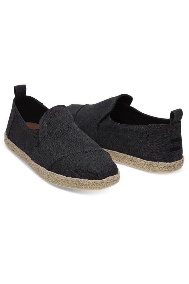 Toms black washed canvas espadrilles - Toms