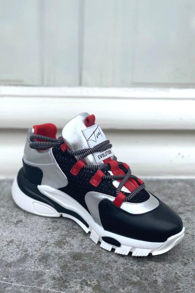 Toral tl11101/bl zwarte/rode sneakers - Toral