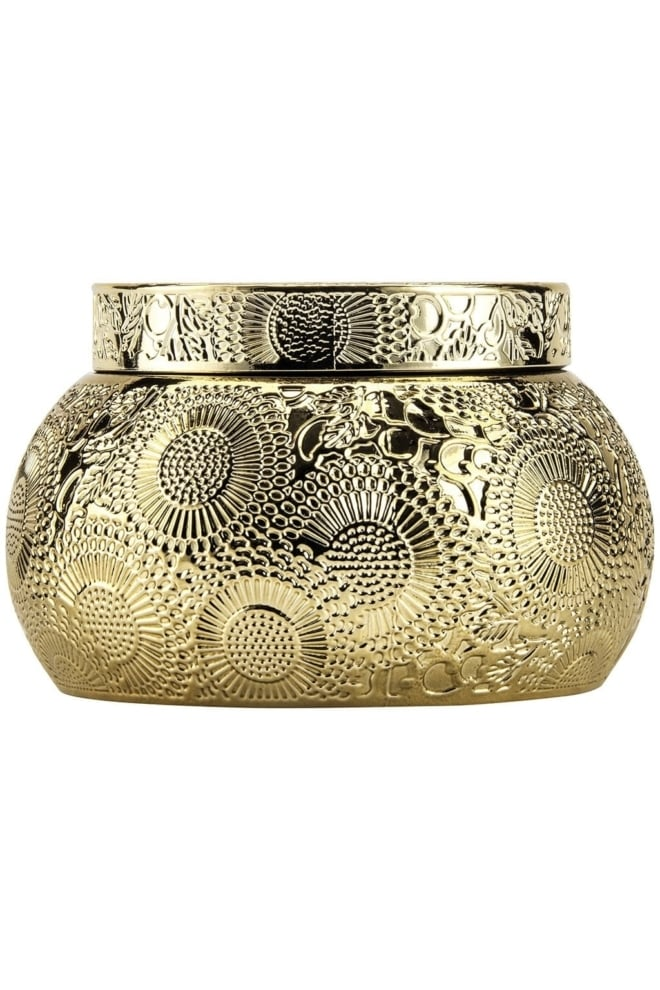 Voluspa chawan bowl 2 wick embossed glass candle - Voluspa