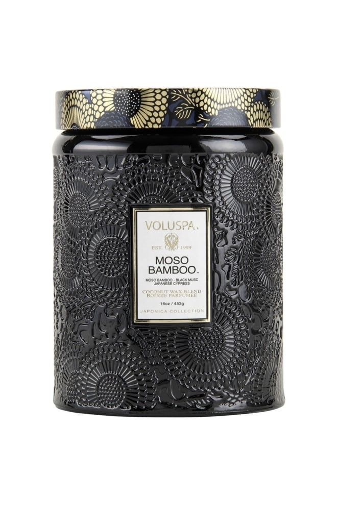 Voluspa large embossed glass jar candle - Voluspa
