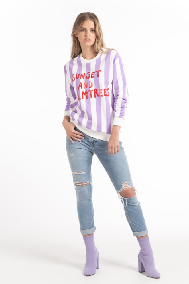 Wanderlust sunset sweater paars - Wanderlust