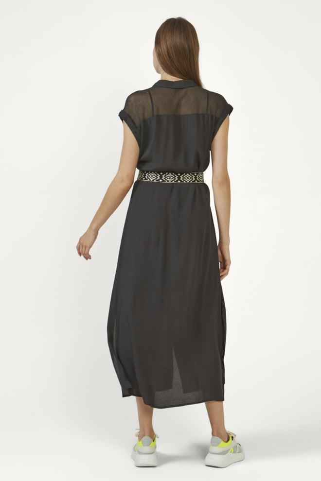 Aaiko valka mesh jurk grijs - Aaiko