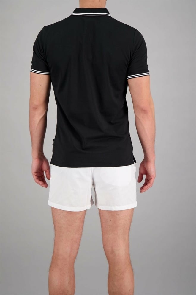 Airforce polo double stripe zwart - Airforce