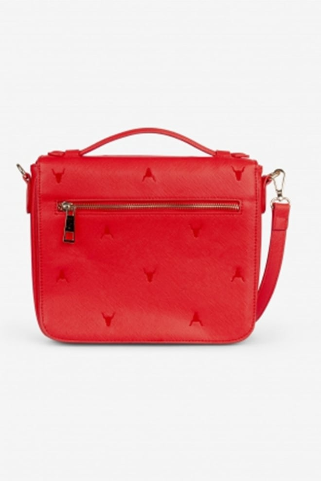 Alix fake leather bag small orange red - Alix The Label