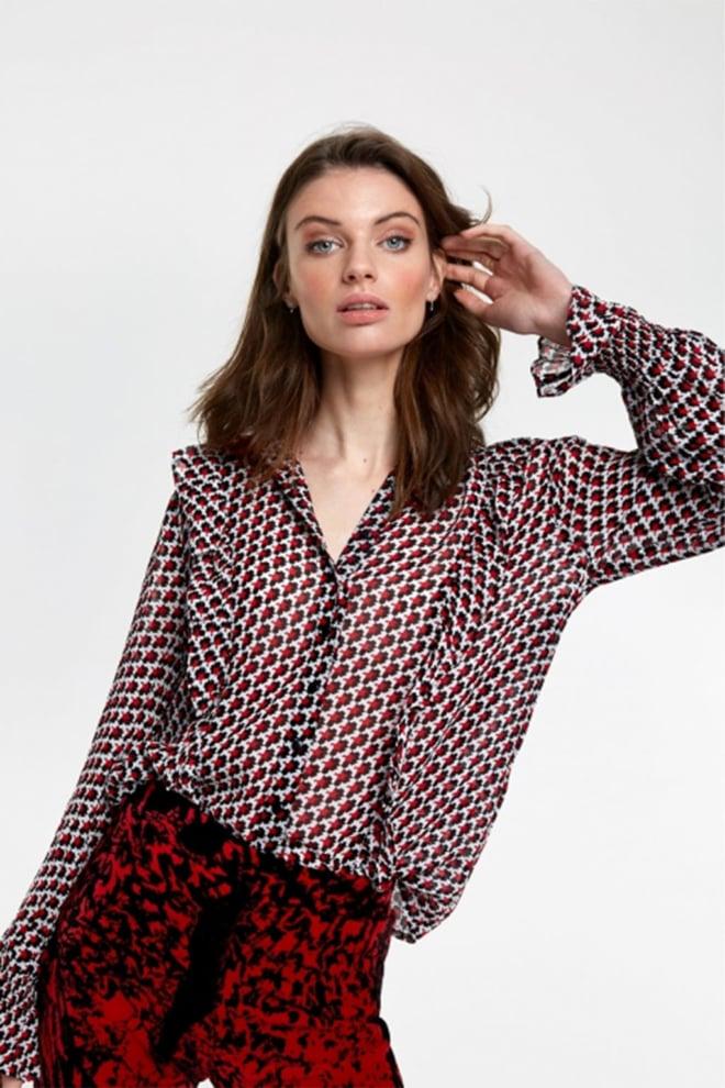 Alix the label graphic star chiffon blouse - Alix The Label