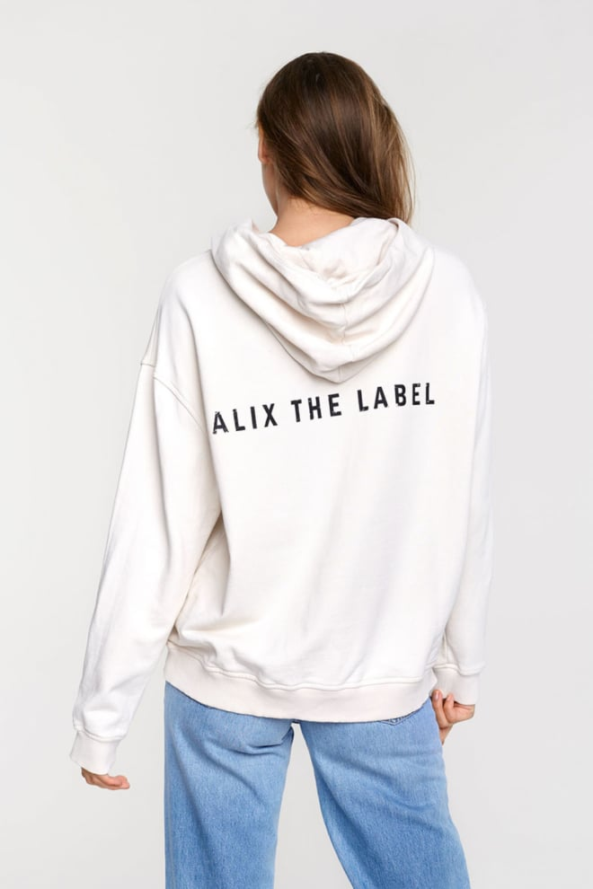 Alix the label oversized hoodie white - Alix The Label