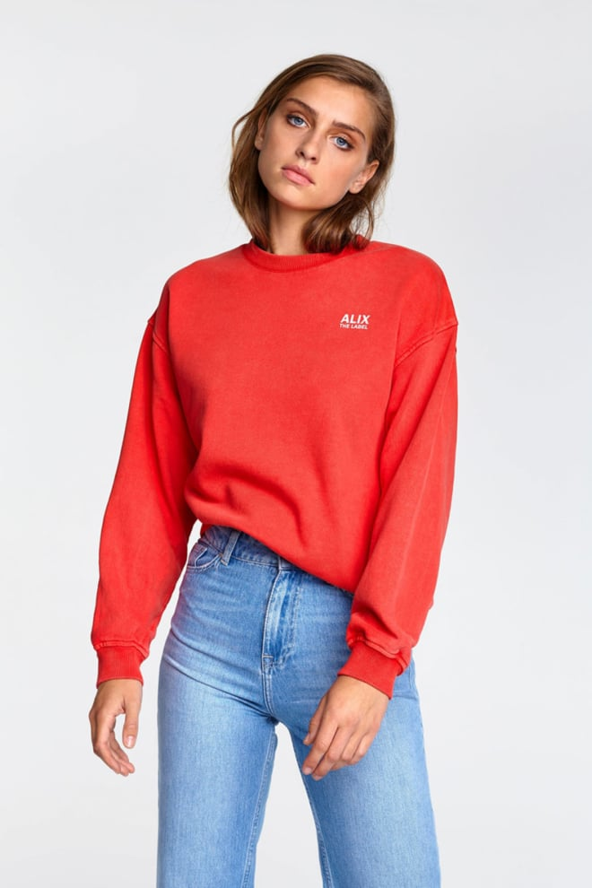 Alix the label oversized on tour sweater red - Alix The Label