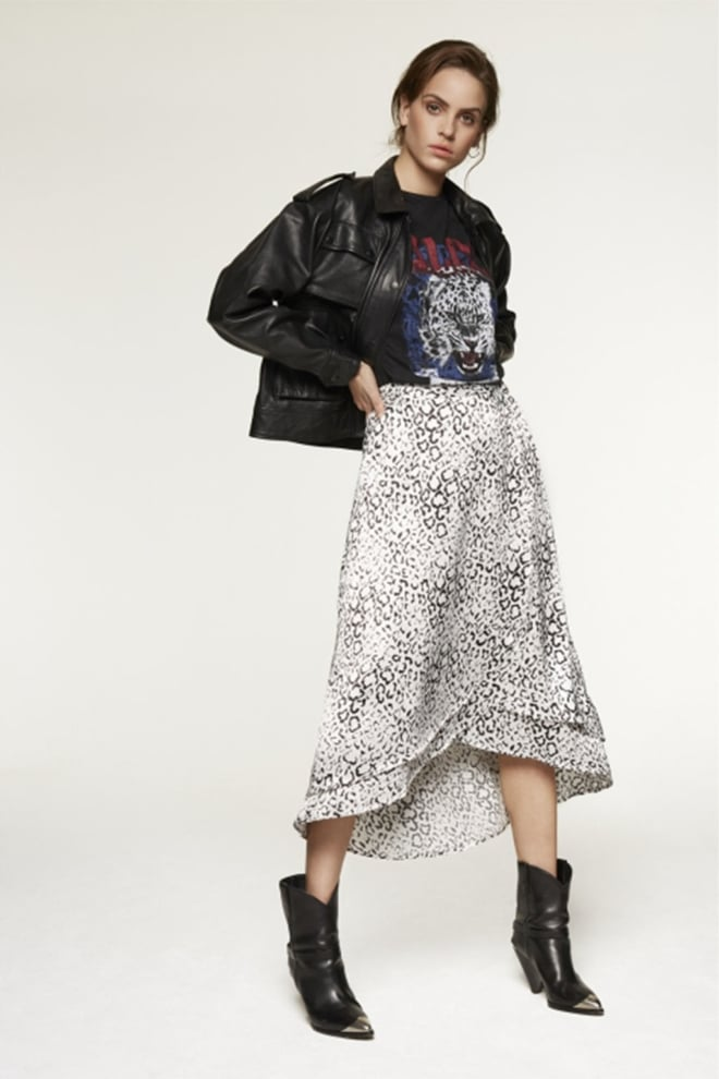 Alix the label animal satin skirt - Alix The Label
