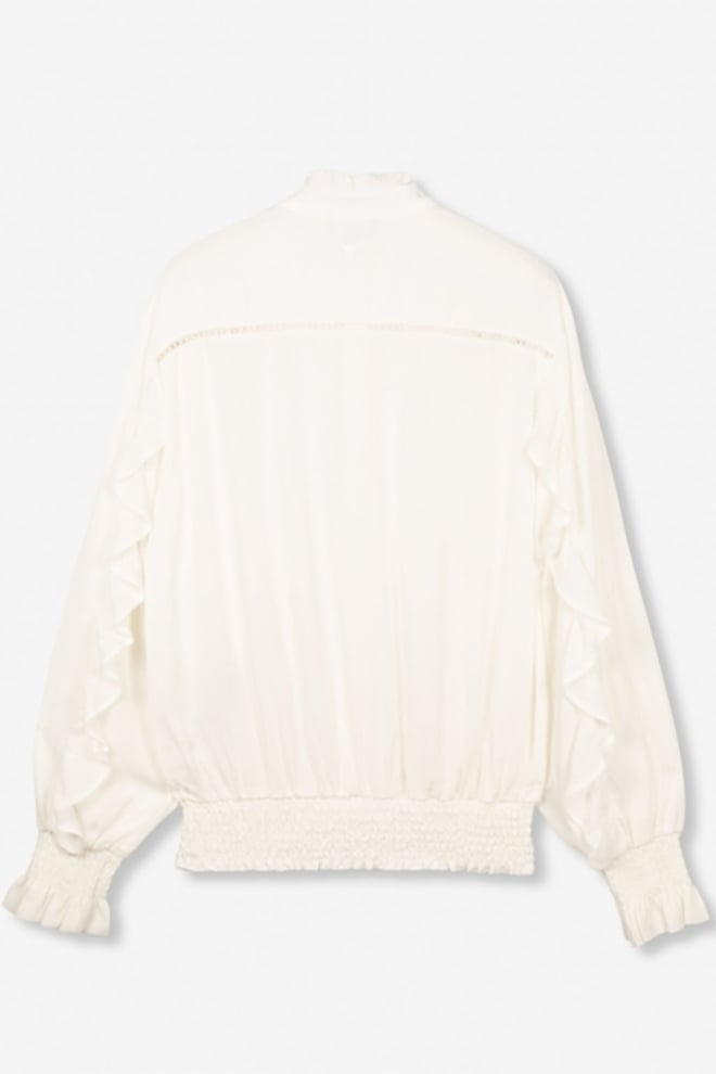 Alix the label woven blouse with tapes and ruffles wit - Alix The Label