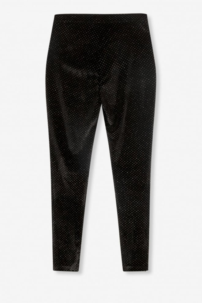 Alix the label woven glitter dot velvet zwart - Alix The Label