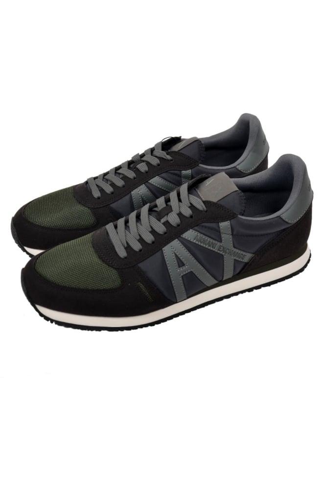 Armani man leather sneakers black