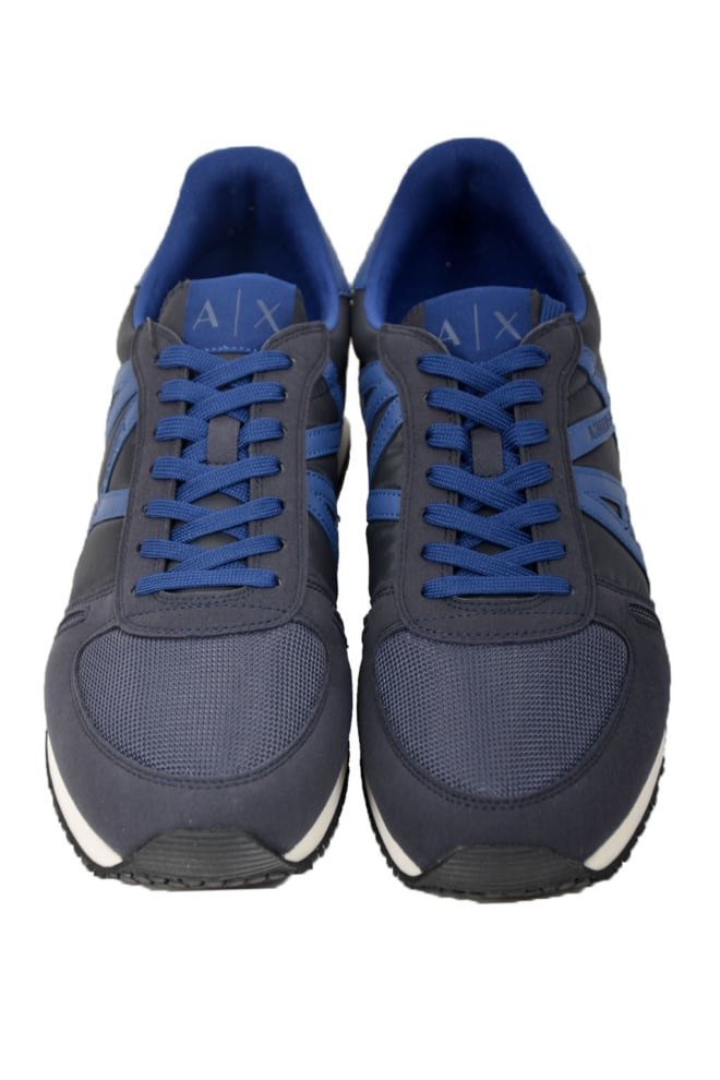 Armani man leather sneakers navy - Armani