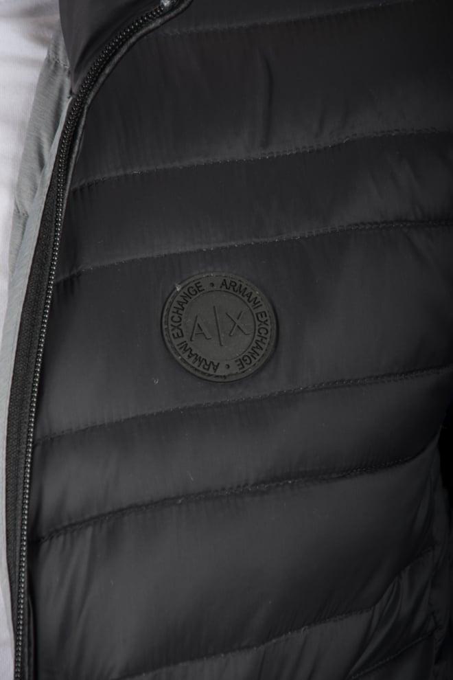 Armani man woven piumino black-grey - Armani