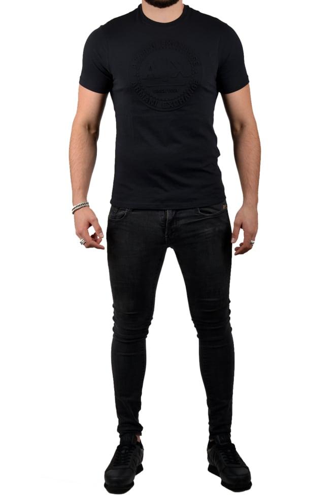 Armani man jersey t-shirt black - Armani