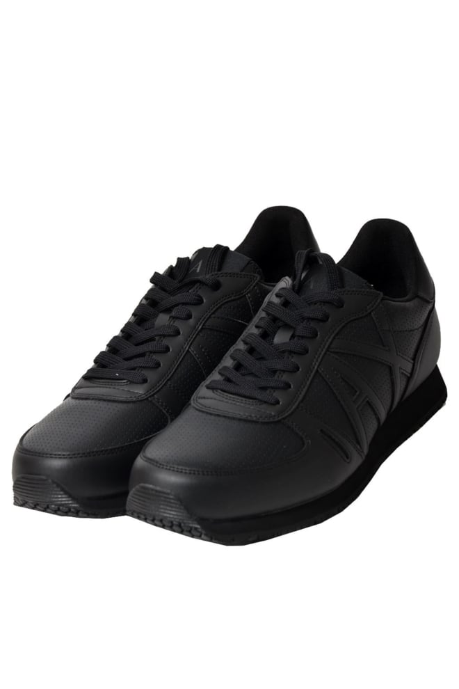 Armani leren sneaker zwart - Armani