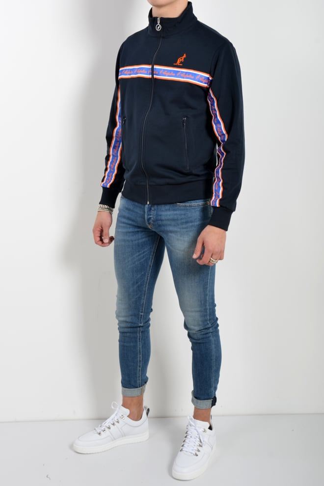 Australian giac felpa uomo vest donkerblauw - Australian