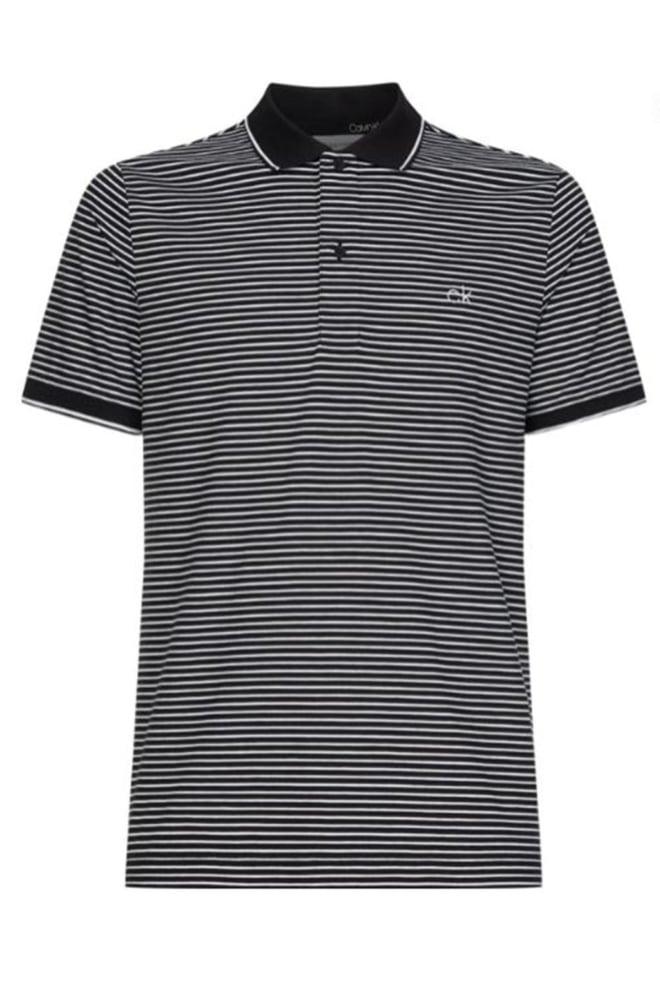 Calvin klein polo streepjes zwart wit - Calvin Klein